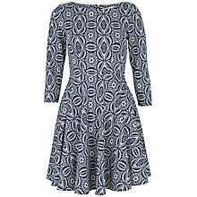 Buy Closet Tile Print Skater Dress, Blue Online at johnlewis.com