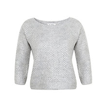 Buy Miss Selfridge Split Back Jumper, Grey Online at johnlewis.com