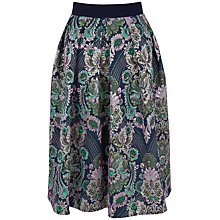 Buy Closet High Waist Midi Pleat Skirt, Multi Online at johnlewis.com