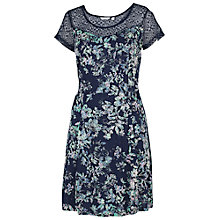 Buy Fat Face Paignton Spray Floral Dress, Navy Online at johnlewis.com