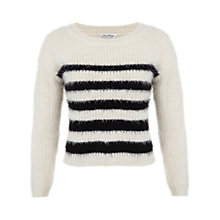 Buy Miss Selfridge Stripe Eyelash Jumper, Multi Online at johnlewis.com