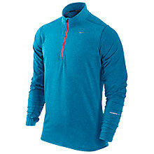 Buy Nike Element Half Zip Running Top, Blue Online at johnlewis.com