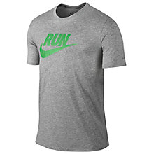 Buy Nike Run Swoosh Running T-Shirt Online at johnlewis.com