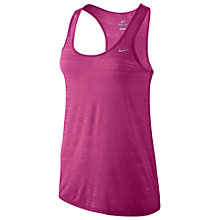 Buy Nike Dri-FIT Touch Breeze Tank Top, Hot Pink Online at johnlewis.com
