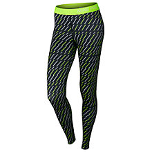 Buy Nike Pro Bolt Print Running Tights, Black/White/Yellow Online at johnlewis.com