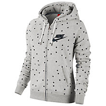 Buy Nike Rally Signal Hoodie, Grey/Black Online at johnlewis.com