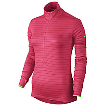Buy Nike Pro Hyperwarm Stripe Half-Zip Training Top, Pink Online at johnlewis.com