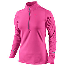 Buy Nike Element Half Zip Running Top, Pink Online at johnlewis.com