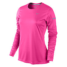Buy Nike Miler Crew Neck Long Sleeve Top Online at johnlewis.com