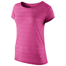 Buy Nike Dri-Fit Touch T-Shirt, Pink Online at johnlewis.com
