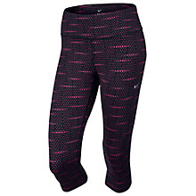 Buy Nike Dri-FIT Printed Epic Run Capri Pants, Black/Pink Online at johnlewis.com