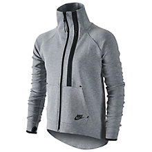 Buy Nike Tech Fleece Moto Cape, Dark Grey/Heather Black Online at johnlewis.com