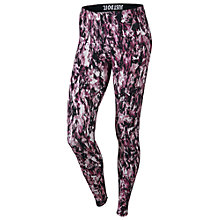 Buy Nike Leg-A-See Mishmash All Over Print Leggings, Dark Fireberry/Black Online at johnlewis.com