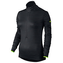 Buy Nike Pro Hyperwarm Fitted Half-Zip Stripe Training Top, Black/Blue Online at johnlewis.com