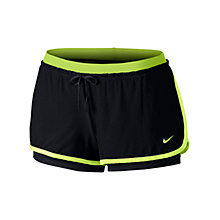 Buy Nike Full Flex 2-in-1 Running Shorts, Black/Yellow Online at johnlewis.com