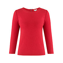 Buy Jigsaw Zip Back Cropped Sweatshirt Online at johnlewis.com