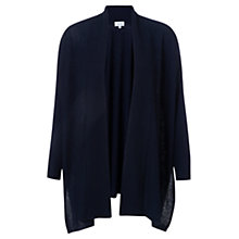 Buy Jigsaw Rice Stitch Blanket Cardigan, Navy Online at johnlewis.com