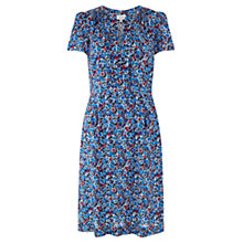 Buy Jigsaw Winter Bloom Tea Dress, Blue Online at johnlewis.com