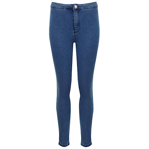 Buy Miss Selfridge Petite High Waist Jeans Online at johnlewis.com