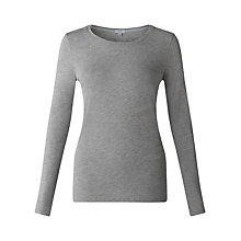 Buy Jigsaw Pima Cotton Crew Neck T-Shirt, Grey Online at johnlewis.com