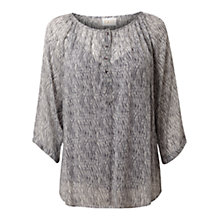 Buy East Shibori Pleat Blouse, Smoke Online at johnlewis.com