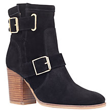 Buy Kurt Geiger Aubrey Suede Block Heeled Ankle Boots Online at johnlewis.com