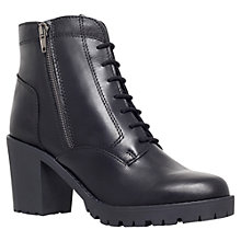Buy Carvela Strong Leather Ankle Boots, Black Online at johnlewis.com