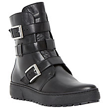 Buy Dune Black Peeta Leather Ankle Boots, Black Online at johnlewis.com