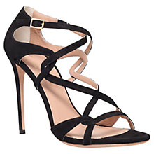Buy Kurt Geiger Nyla Suede Sandals, Black Online at johnlewis.com