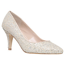 Buy Carvela Kairo Glitter Court Shoes, Silver Online at johnlewis.com