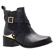 Buy Carvela Teddy Leather Ankle Boots, Black Online at johnlewis.com