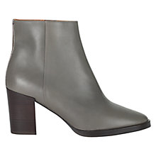 Buy Whistles Liv Leather Block Heeled Ankle Boots Online at johnlewis.com