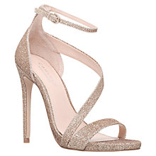 Buy Carvela Gosh Curved Strap Stiletto Sandals, Gold Online at johnlewis.com