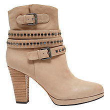 Buy Mint Velvet Dixie Leather Stud Ankle Boots, Sand Online at johnlewis.com