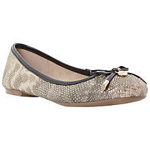 Buy Dune Malmo Flat Bow Detail Ballerina Pumps, Gold Metallic Online at johnlewis.com