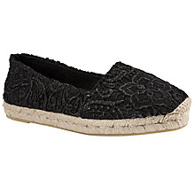 Buy John Lewis Grace Flat Espadrilles, Black Online at johnlewis.com