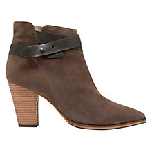 Buy Mint Velvet Lexi Leather Ankle Boots, Grey Online at johnlewis.com