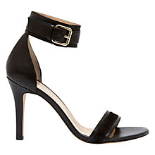 Buy Mint Velvet Sofia Leather High Heel Sandals, Black Online at johnlewis.com