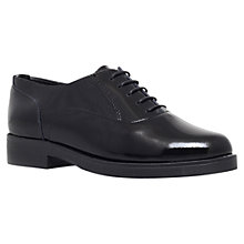 Buy Carvela Listen Patent Lace Up Shoes, Black Online at johnlewis.com