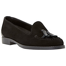 Buy Dune Galileo Suede Tassel Loafers, Black Online at johnlewis.com