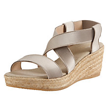 Buy John Lewis Ebon Espadrille Wedges, Taupe Online at johnlewis.com