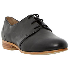 Buy Dune Fizz Leather Lace Up Shoes, Black Online at johnlewis.com