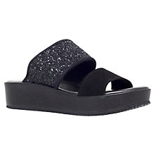 Buy KG by Kurt Geiger Myth Leather Sandals, Black Online at johnlewis.com