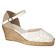Buy John Lewis Corfu Espadrille Sandals, White Online at johnlewis.com