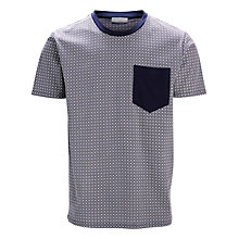 Buy Selected Homme Shgordon Printed T-Shirt, Navy Online at johnlewis.com