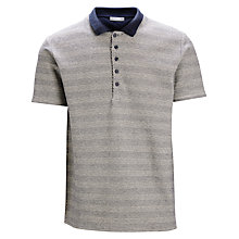 Buy Selected Homme Structure Stripe Polo Shirt, Navy Blazer Online at johnlewis.com