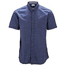 Buy Selected Homme One Peter Geometric Print Shirt, Blue Depths Online at johnlewis.com