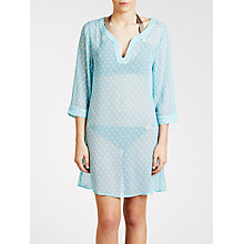 Buy John Lewis Brushed Spot Kaftan, Aqua Online at johnlewis.com