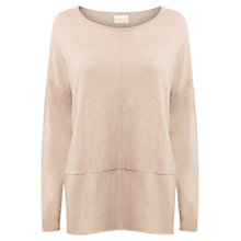 Buy East Seam Detail Cotton Jumper, Ivory Online at johnlewis.com
