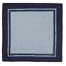 Buy BOSS Black Circle Print Pocket Square, Navy Online at johnlewis.com